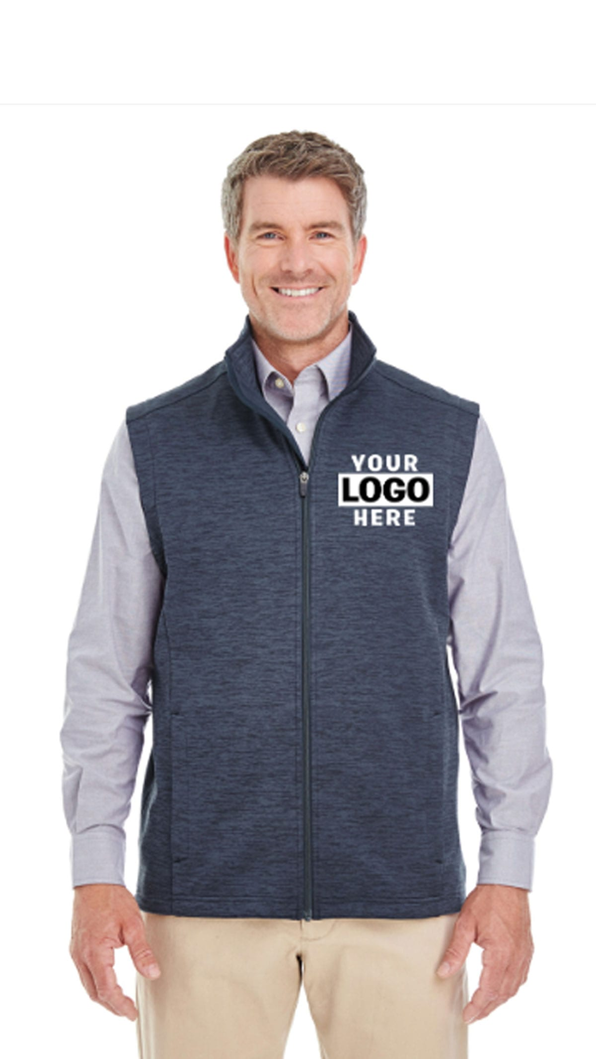 Men's Newbury Melange Fleece Vest
