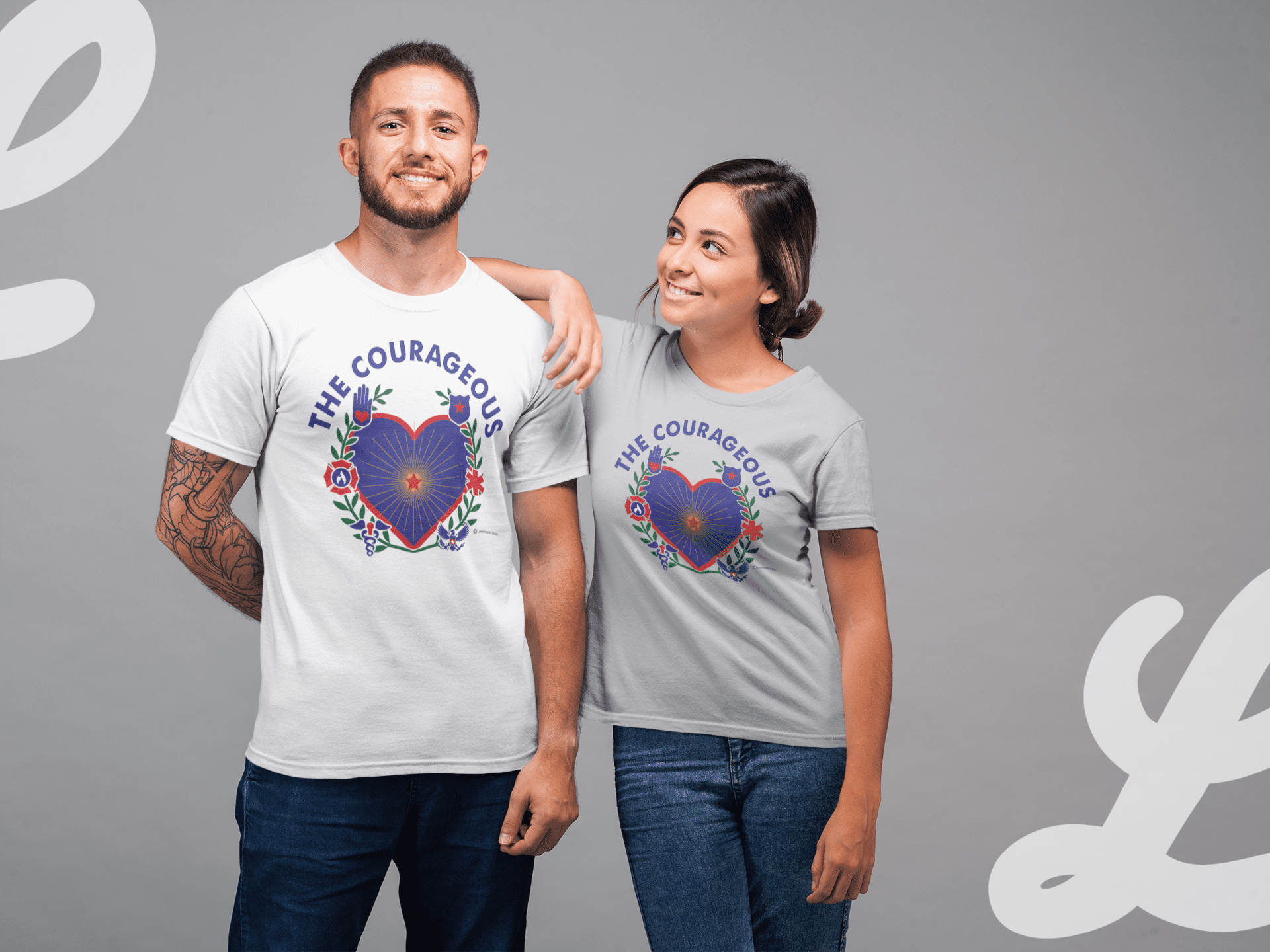 courageous covid hero tshirts for frontline workers in NY